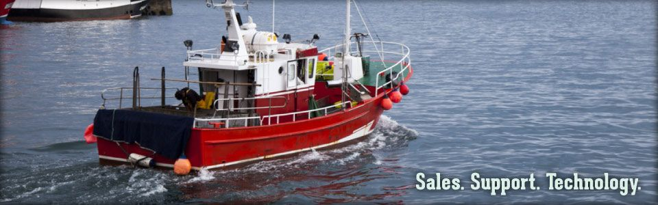 Sales. Support. Technology. | Red Fishing Boat